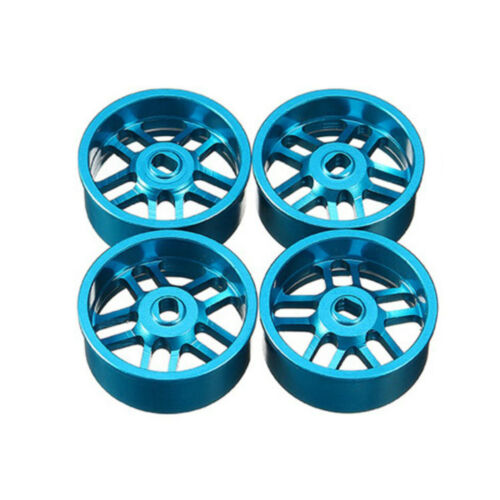 For 1//28 Kyosho MINI-Z MR-03 AWD IW04M MINI-Q MINI-D Metal Wheel Hubs Tire Rims