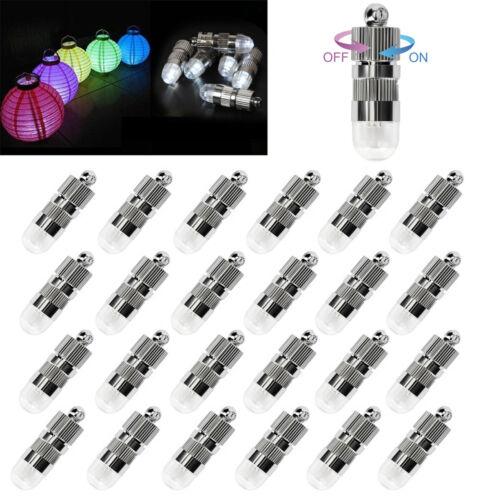 Mini DEL Ballons Lumineux étanche éclairage pour papier Lanterne Lampion Blanc