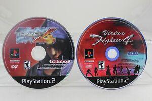 Tekken-4-amp-Virtua-Fighter-Lot-Playstation-2-DISC-ONLY-Tested-Cleaned-Black-Label