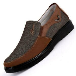 Mens-Old-Beijing-Style-Casual-Canvas-Shoes-Slip-On-Loafers-Comfortable-Flats-Hot