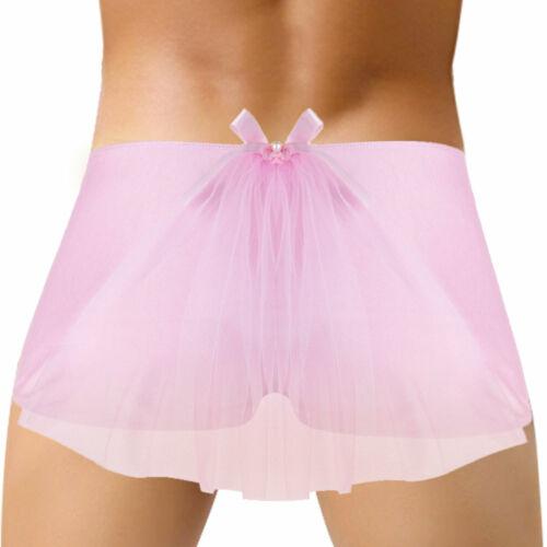 Sissy Mens Silky Bowknot Bikini Briefs Underwear Lingerie G-string Tanga Panties