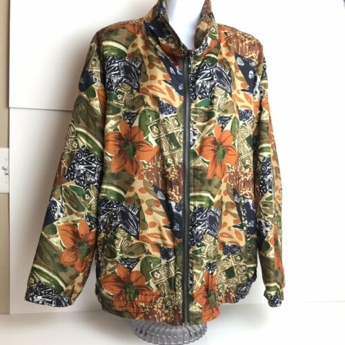 EVR 100% Silk Vintage Jacket Size XL  BB