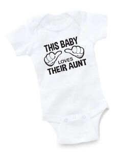 caaf52022 This Baby Loves Their Aunt AUNTIE Gerber Onesie Funny Baby Shirt ...