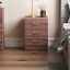 thumbnail 3 - Riano Bedside Cabinet Chest Of Drawers Walnut 3 Drawer Metal Handles Runners