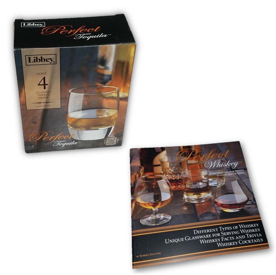 LIBBEY 4 PIECES PARFAIT TEQUILA 9.5-Oz Verre Set & One (1) whisky Livre Ensemble Cadeau
