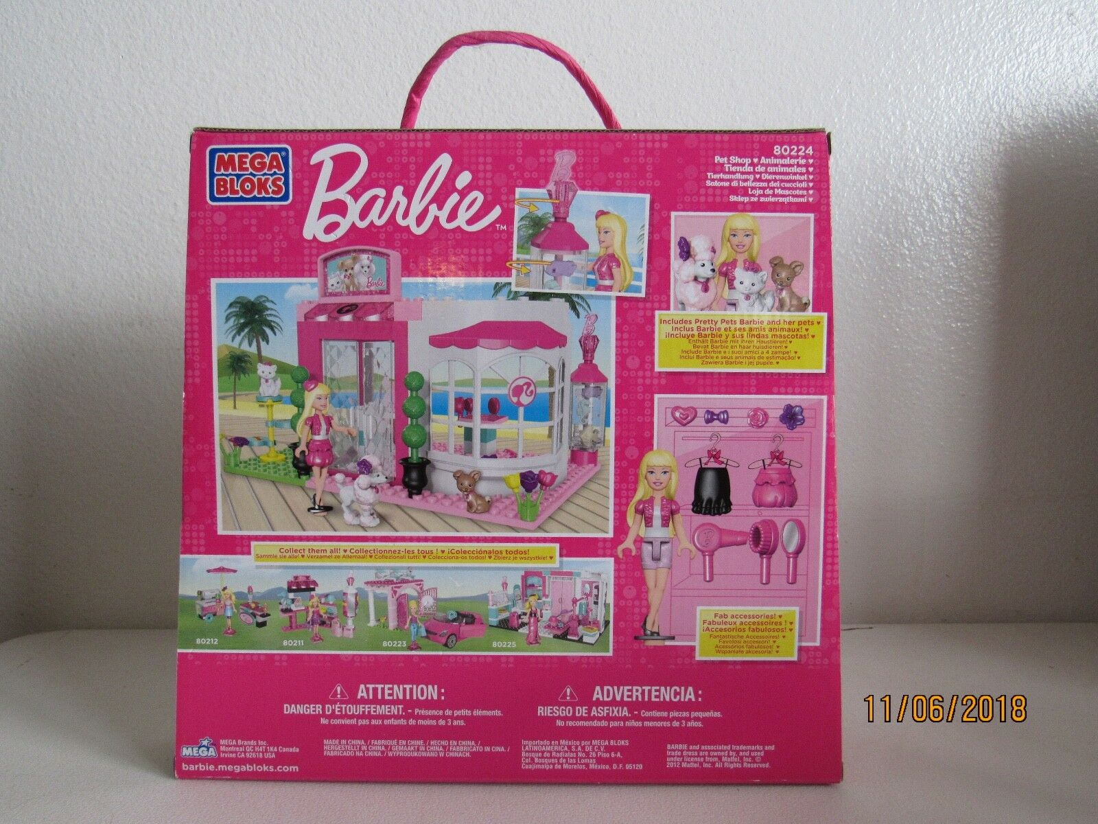 c494d4ee9bd6 ... Mega Bloks Bloks Bloks Barbie Build n Style Pet Shop 80224 NEW eaeba7  ...