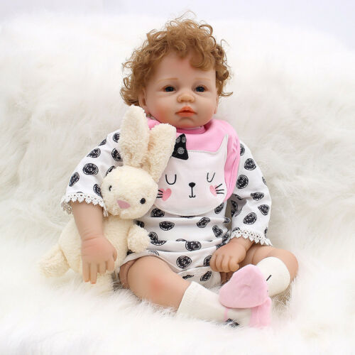 Lovely 21inch Reborn Doll Full Body Silicone Newborn Baby Doll with Clothes
