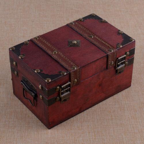Vintag Schmuckkasten Schatzkiste Schatztruhe Truhe Holztruhe Holzbox Box A4