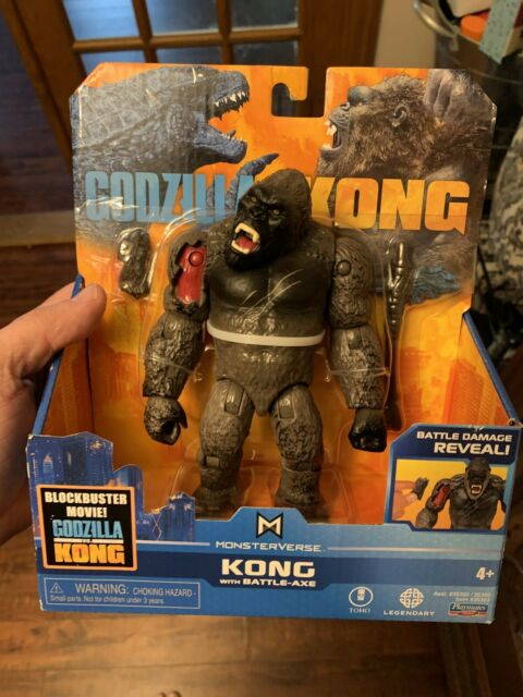 "🔥 NEW Godzilla vs Kong KONG WITH BATTLE AXE Playmates Monsterverse 6"" Figure"