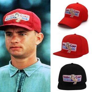 H-F-Forrest-Gump-Bubba-Gump-Casquette-de-baseball-Snapback-Noir-Rouge-Reglable