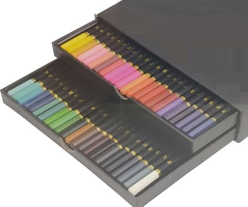 46 Buntstifte Farbstifte in Schuberbox Künstlerqualität Zeichnen Malen Skizze