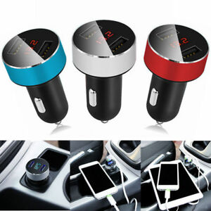 Car-Charger-5V-3-1A-Quick-Charge-Dual-USB-Port-Cigarette-Lighter-Adapter-Voltage