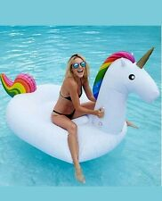 Inflatable Swimming Ring Ride-on Flamingo Swan Unicorn Water Lake  Swim Summer