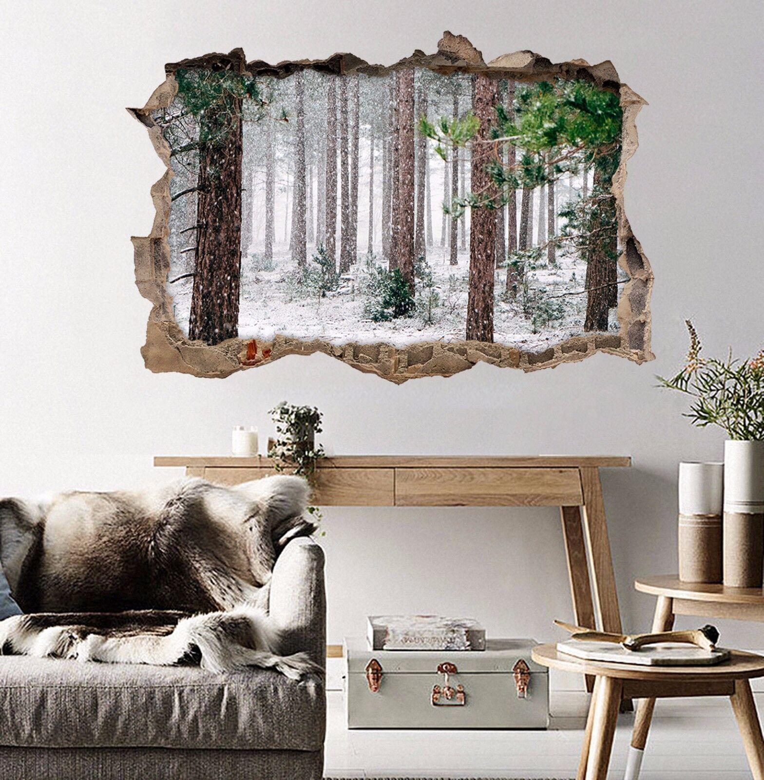 3D Schnee Wald 78  Mauer Murals Mauer Aufklebe Decal Durchbruch AJ WALLPAPER DE