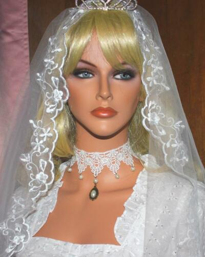 Modelle victorianisch Burlesque Halsband Kropfband Choker Armband weiß versch
