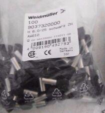 100 Weidmuller 9037320000 Wire End Ferrule H6025 Zh Sw Awg10