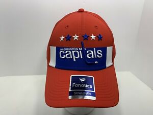 Washington-Capitals-NHL-Fanatics-Stretch-Fit-Hockey-L-XL-Fitted-Cap-Red-NEW
