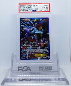 Heatran EX FULL ART ULTRA RARE 109//116 Pokemon BW Plasma Freeze TCG Holo