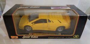 Maisto-SPECIALE-ED-LAMBORGHINI-se-1994-1995-Giallo-Scala-1-18-Auto-Modello-Confezionato