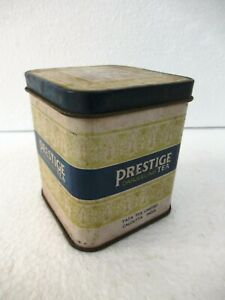 "Vintage Prestige Darjeeling Tea Advertising Tea Box Empty Tata Tea Collectible""F"