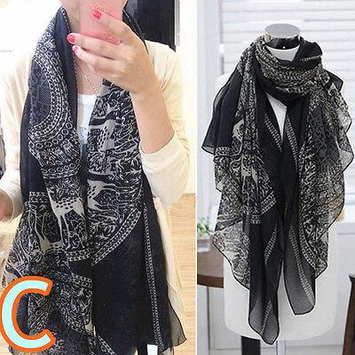 Fashion New Lady Women's Long Soft Wrap Lady Shawl Cotton Chiffon Scarf Scarves