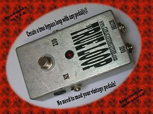 Boutique-Custom-USA-True-Bypass-guitar-switchable-effects-loop-looper-pedal
