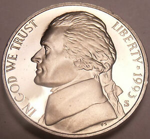 SCARCE 1993-S PROOF JEFFERSON NICKEL~THE BEST COINS~F/S