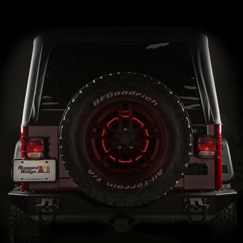 Rugged Ridge 11585.04 Third Brake Light w//LED Ring for Wrangler TJ//LJ//JK//JKU