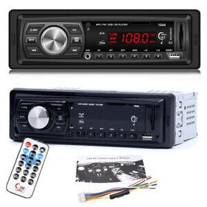 AUTORADIO-KFZ-FM-MP3-Player-Auto-FREISPRECH-EINRICHTUNG-Car-USB-SD-AUX-REMOTE-FT