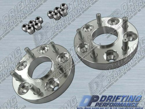 """WHEEL ADAPTERS SPACERS 5x114.3 FOR 240SX 300ZX 350Z 370Z HUB CENTRIC 1/"""" 25mm"""