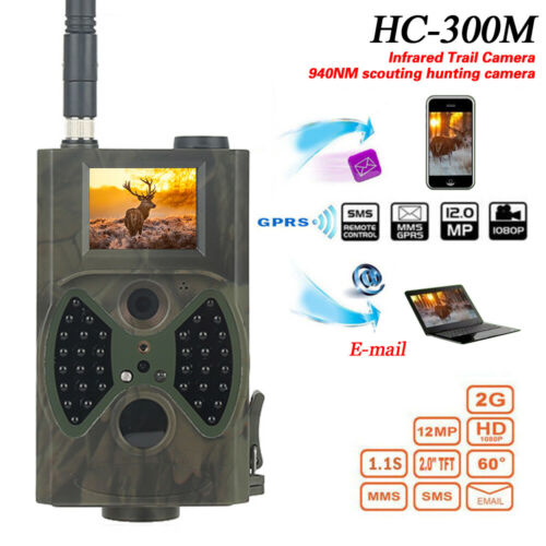 HC-300M Hunting  Camera 12MP GPRS MMS 1080P IR Night Vision Video Camera