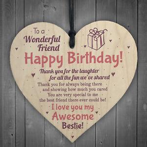 Image Is Loading Friendship Best Friend Plaque Happy Birthday Heart Gift
