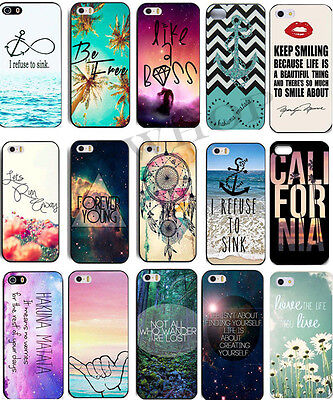Hot Scenery Quote Pattern Painted Hard Case Cover Skin For Apple iPhone 4S 5 5S
