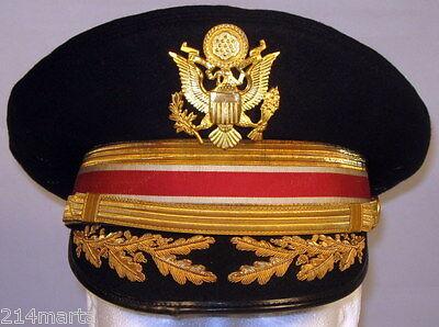 489b50f9d2d US Army Field Officer Engineers Dress Blues Uniform Hat Cap 6 7 8 55 Bullion