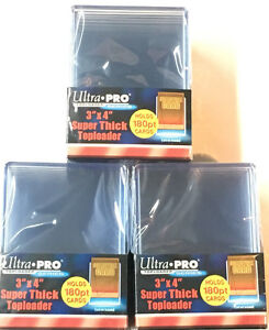 30-Ultra-Pro-Thick-180pt-Toploaders-Super-thick-Topload-Card-Holders-3x4-MLB