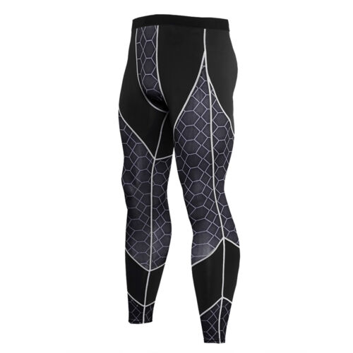 Men/'s Pro Athletic Long Pants Cool Dry Compression Gym Base Layer Print Tights
