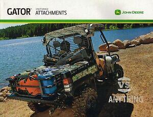 John Deere Gator Accessories >> John Deere Gator Options Accessories Attachments Brochure 825i 625i