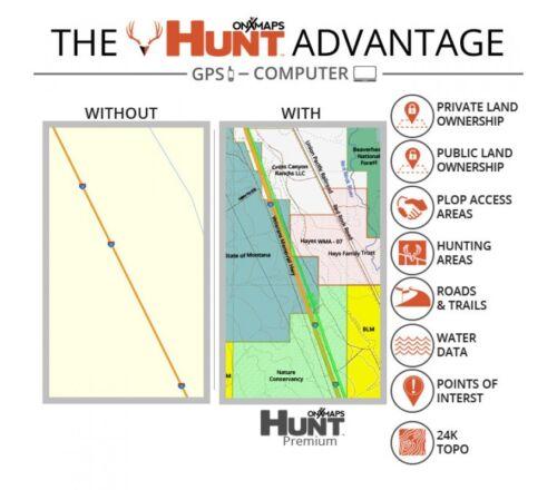 Map for Garmin GPSHunting GPS MapsMicroSD Card OnXmap Hunt ILLINOIS Prem