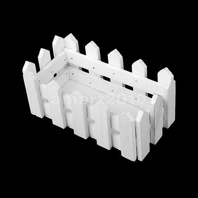 White Wooden Flower Fence Storage Frame Case for Home Garden Wedding Decor