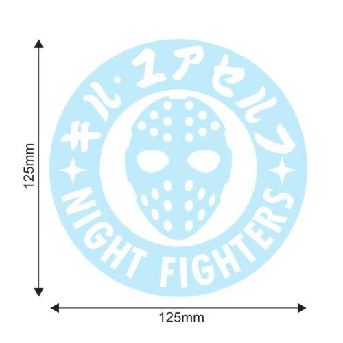 Night Fighters JDM Oil Slick Chrome Autocollant Voiture Osaka kanjozoku Civic EK9 EG EF