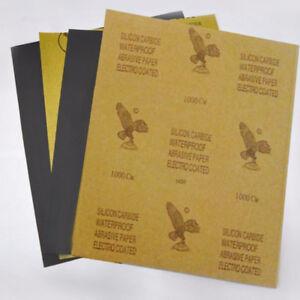 3pcs Sandpaper 80 / 120 /150/ 320 / 400 / 600 / 800 / 1000 / 1200 / 2000 Grit