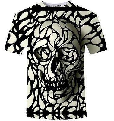 New Fashion Womens/Mens Dark Souls Skull Funny 3D Print Casual T-Shirt