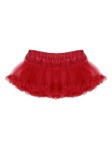 Mens Sissy Satin Tutu Dress Frilled Mini Skirts Dancewear Petticoat Costumes