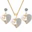 Women-Heart-Pendant-Choker-Chain-Crystal-Rhinestone-Necklace-Earring-Jewelry-Set thumbnail 44