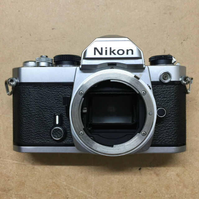 Nikon FM 35mm SLR Film Camera Body Only, Silver