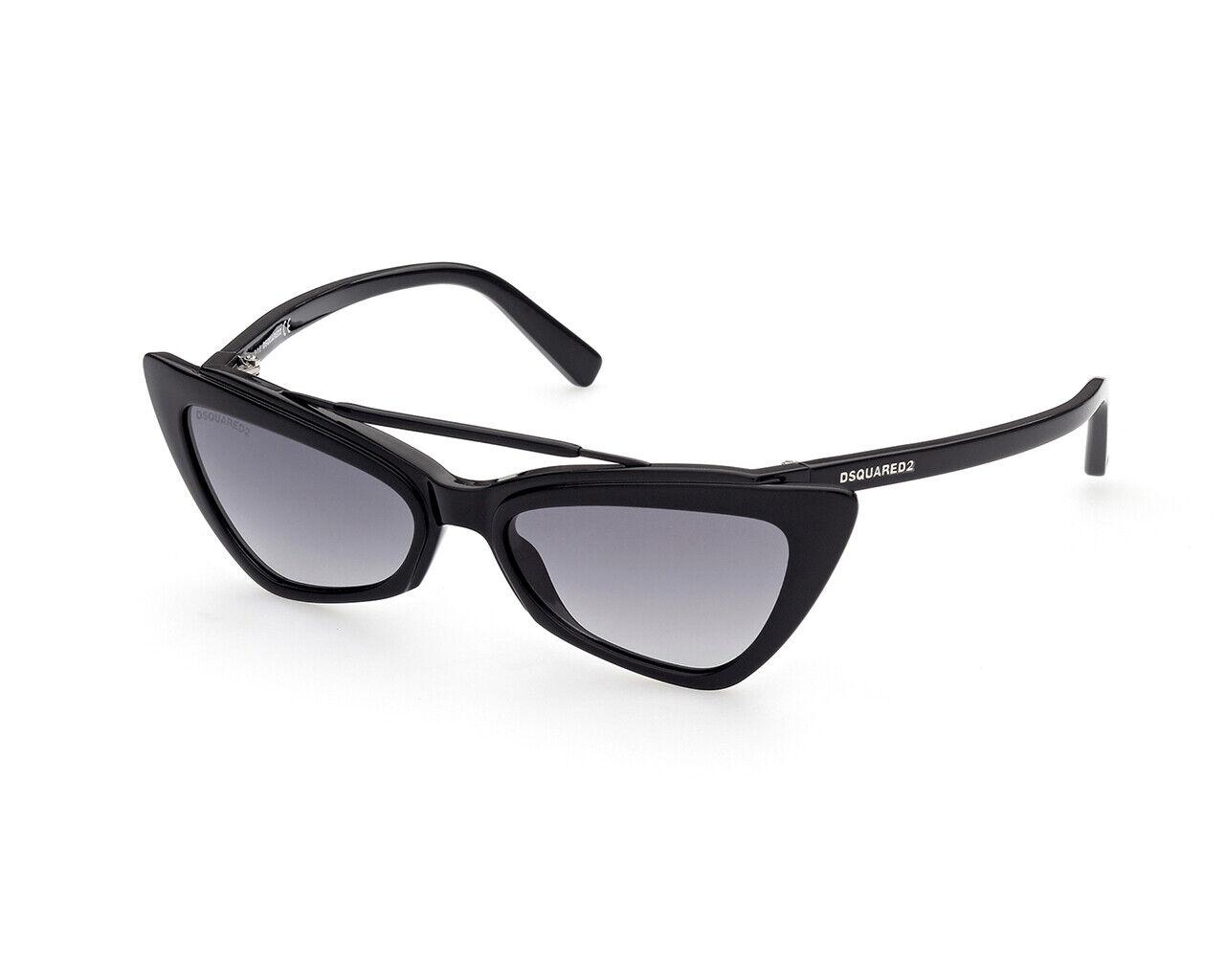 Brand New Dsquared2 Sunglasses DQ0370 DELIA 01B Black smoke Ladies Authentic