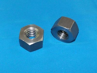 """steel 2 pack for acme left hand threaded rod 304070-nut-LH 1/""""-5 acme hex nut"""