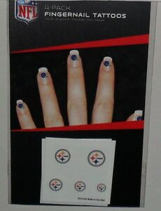NFL-PITTSBURGH-STEELERS-20-TEMPORARY-FINGERNAIL-TATTOOS-FAST-FREE-SHIPPING