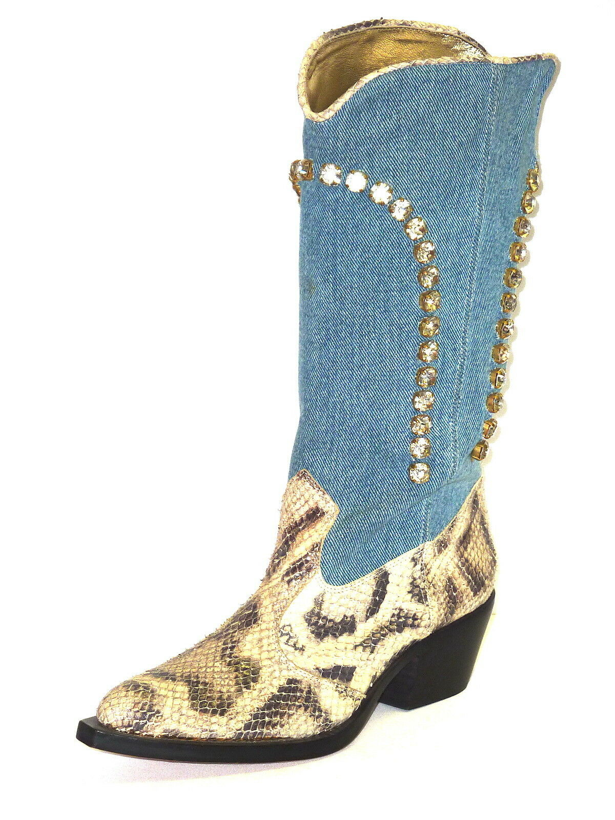 AMARANTI botas TEXANI zapatos mujer SWAROVSKI PITONE PITONE PITONE 39  mas barato