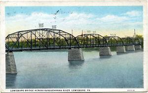 Lewisburg-PA-Bridge-Across-Susquehanna-River-Pennsylvania-Postcard